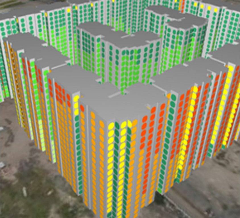 Estudio de fachada para proyecto residencial